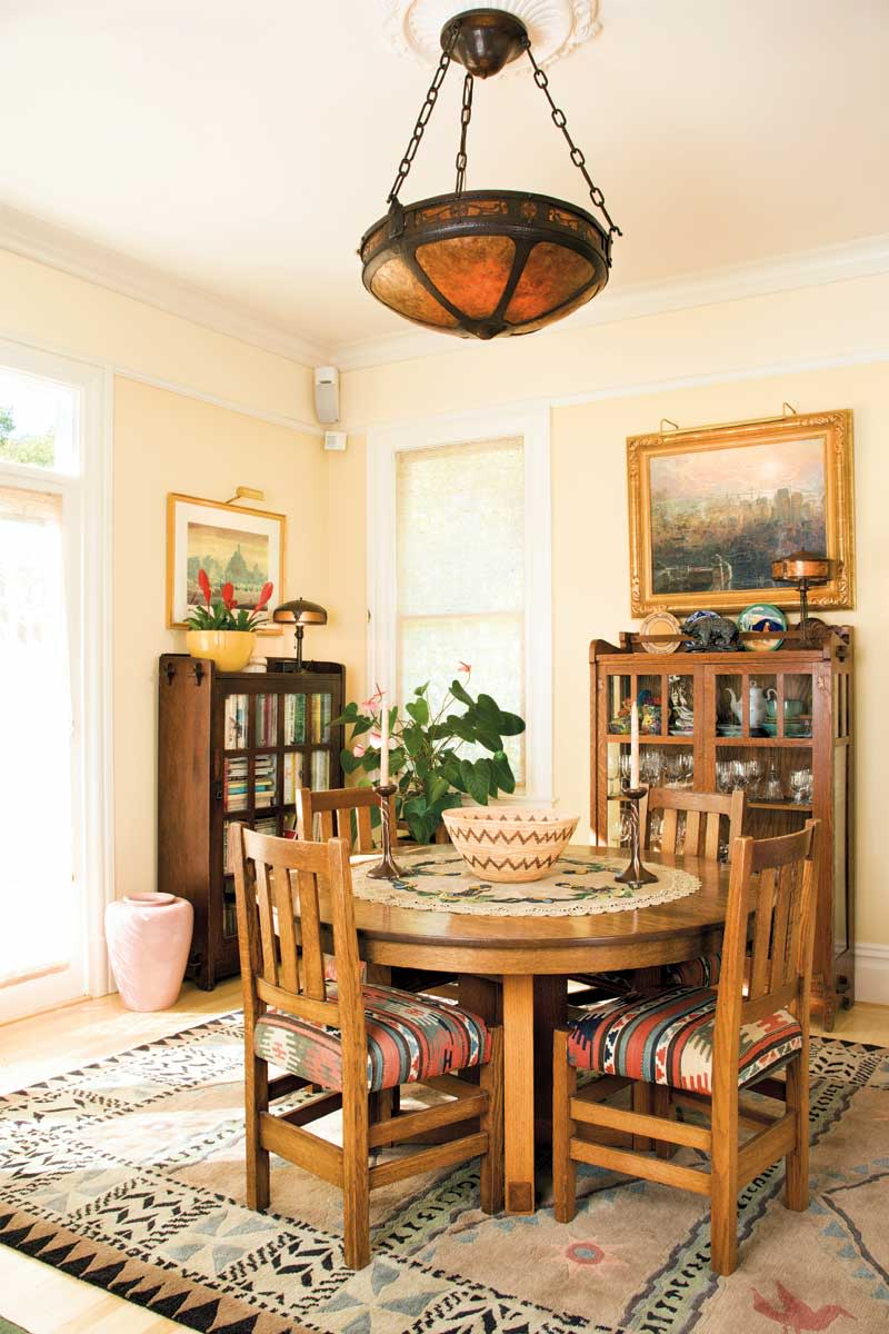 Arts and crafts dining room furniture