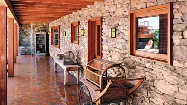 Stone veneer from Eldorado Stone has the look and depth of the heavier stuff, but with far less weight.