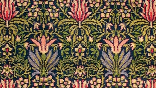 William Morris's 'Tulip & Lily' by J. R. Burrows & Co.