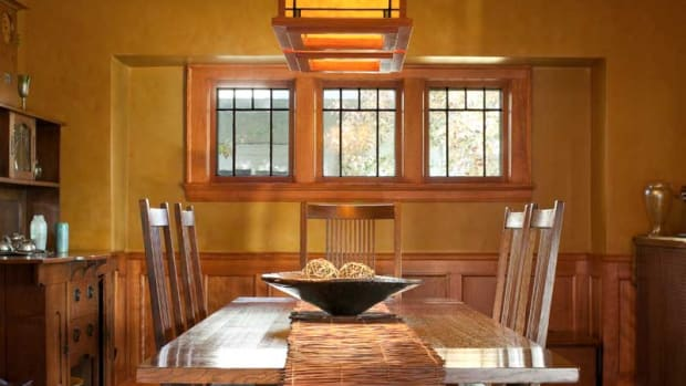 Stickley oak furniture, Prairie-style house