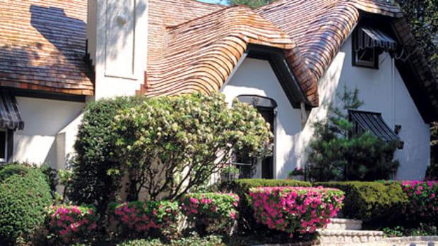 "shingle ""thatch"" roof by Custom Cedar Solutions"