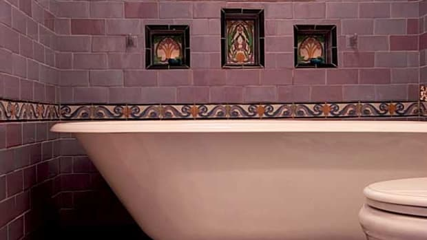 art deco tiles bathroom arts amp crafts baths two ways design for the arts 15441