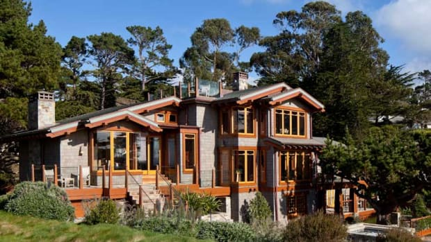 "This stunning modern Craftsman house rose on the foundations of a tired ""oversize rambler.""  All photos by William Wright"