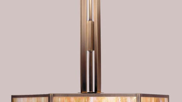 """Arroyo Craftsman's 'Etoile' series 21"""" pendant is priced from $565."""