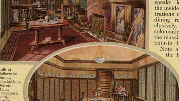 A Sears Honor-Bilt interior, circa 1921.