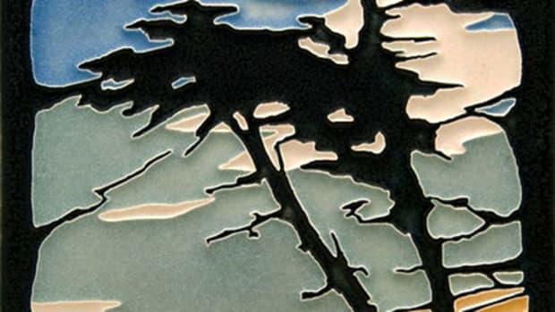 Monterey Cypress art tile from Motawi.