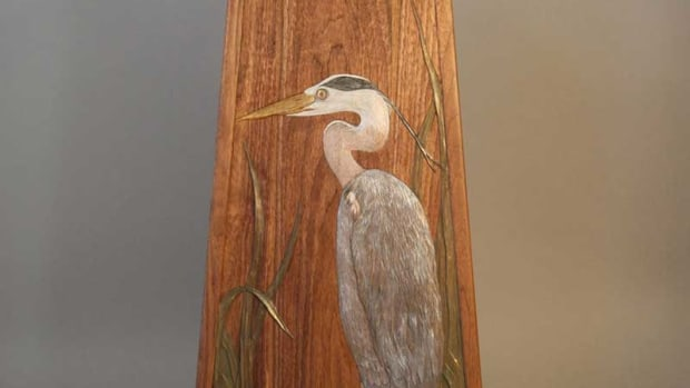 'Great Blue Heron Table' in black walnut, Zito Schmitt Design