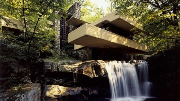 waterfall at Wright house