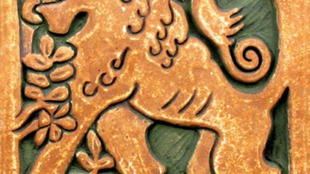 Lion Batchelder Tile