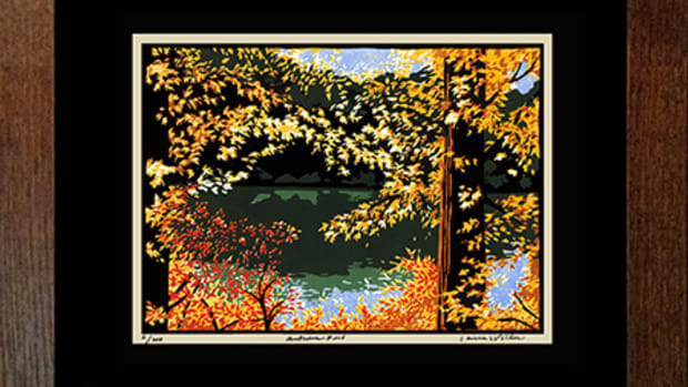 """Autumn Pond,"" a new limited edition giclee print by Roycroft Renaissance Master Artisan Laura Wilder"