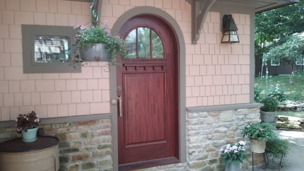 vintage doors round top door