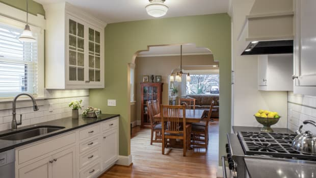 bungalow kitchen stepped arch