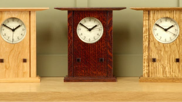 Prairie Style Mantel Clock - Schlabaugh & Sons
