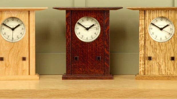 Prairie Style Mantel Clock - Schlabaugh & Sons