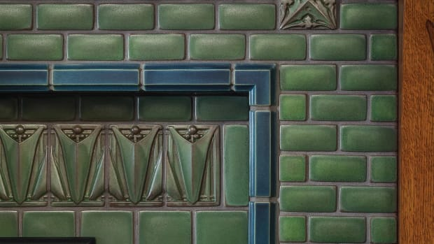 Motawi Tileworks fireplace surround