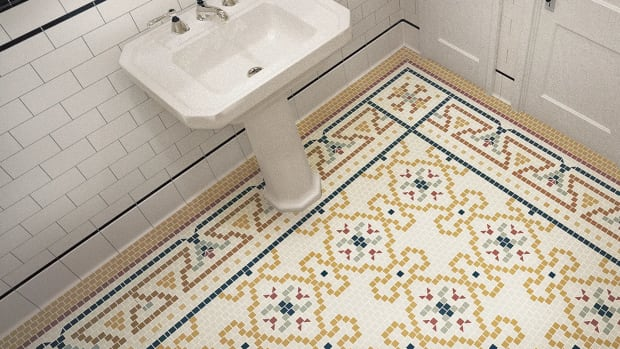 "Heritage Tile create a ""rug"" pattern"