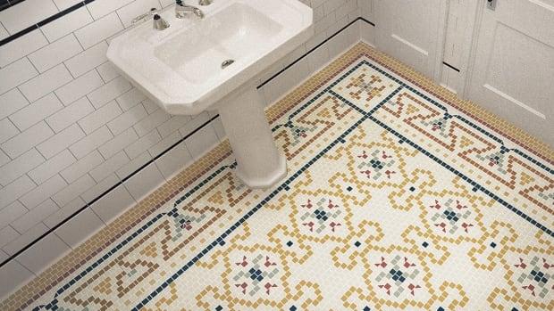 "Heritage Tile create a ""rug"" pattern"