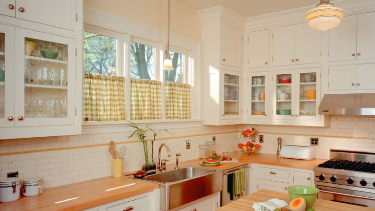 Two Arts & Crafts Kitchens: Bungalow Basic & Adirondack Spirit