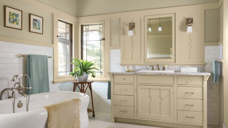 Perfecting a Prairie School Kitchen & Bath