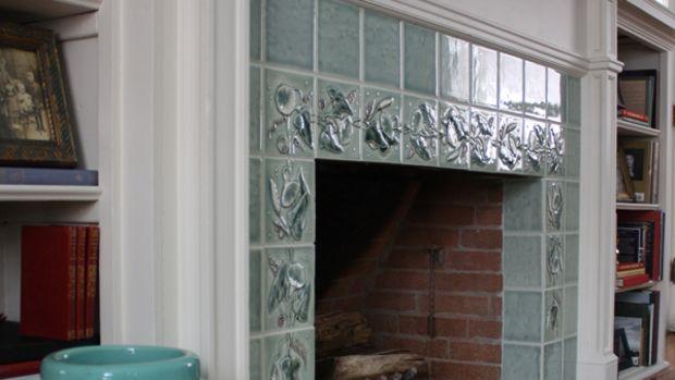 The finished fireplace. Photo: TJ Pignataro