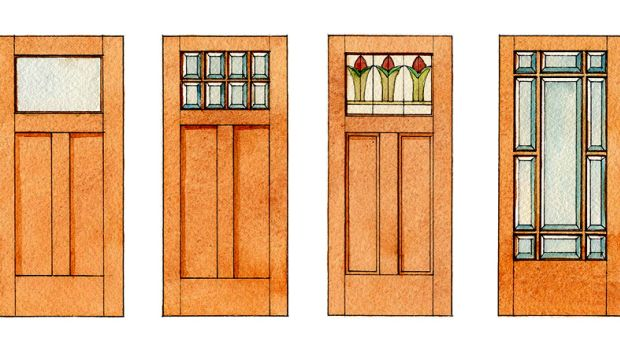 French doors let in the light arts crafts homes and for Craftsman french doors