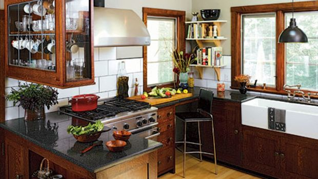 Revival-style kitchen