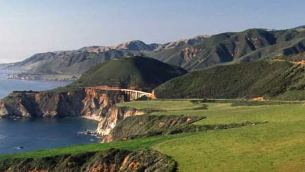 Bixby Creek Bridge is an iconic landmark in Big Sur, 13 miles south of the Monterey Peninsula on Highway 1.