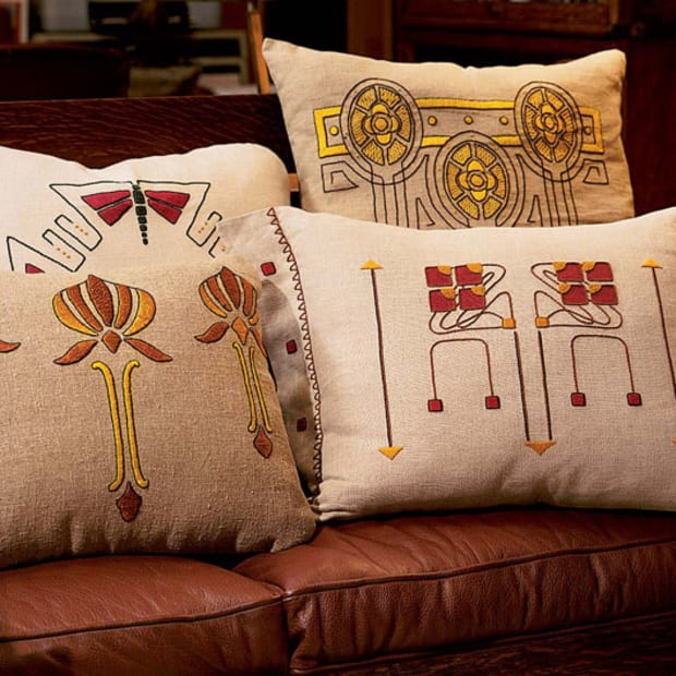 Craftsman Pillow Kits Design For The Arts Crafts House Arts Crafts Homes Online