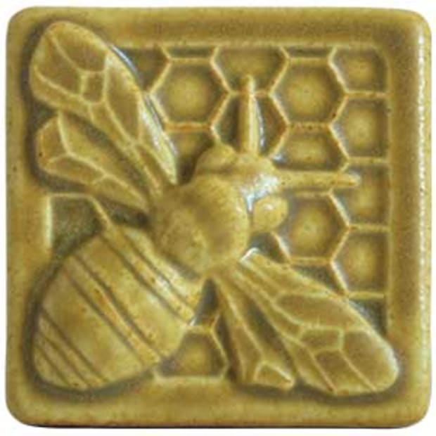 Pewabic Honey Bee Tile