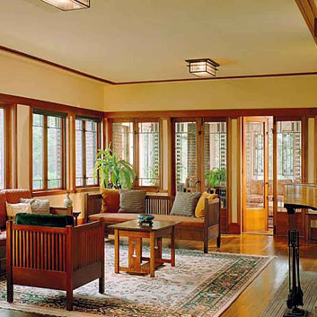 Early Prairie School Interior Design