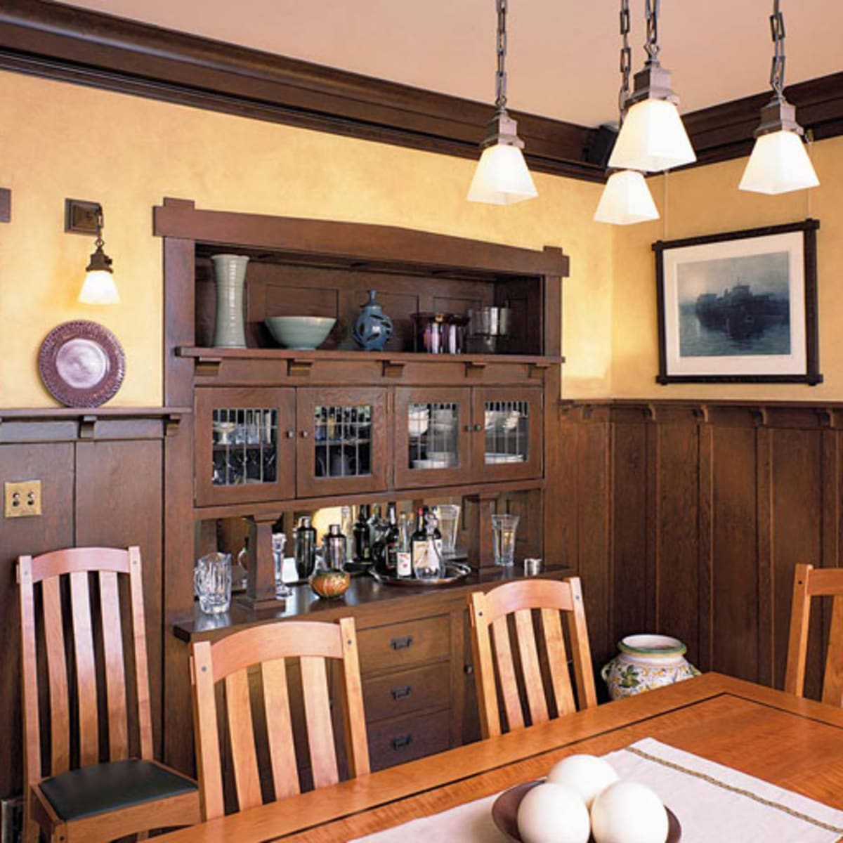 Wood Wainscot Revival Design For The Arts Crafts House Arts Crafts Homes Online