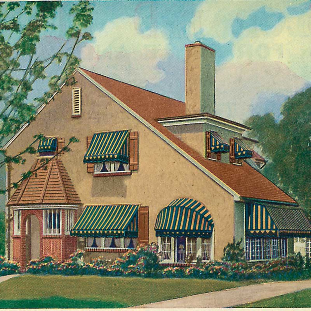 The Practical Appeal Of Window Awnings Design For The Arts Crafts House Arts Crafts Homes Online