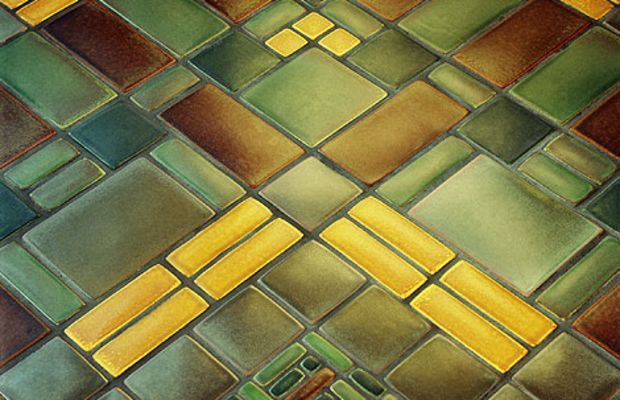 Mosaic Tile Floor from Motawi
