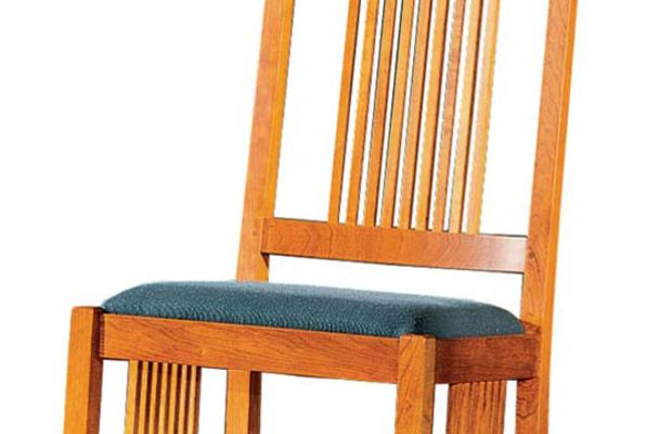 "Stickley's ""Armless Spindle Rocker"" is a bedroom space-saver with presence."