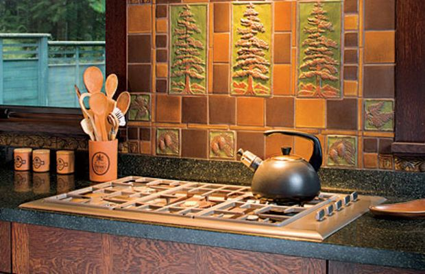 Today's stunning art tile accompanies modern appliances. Photo by William Wright.