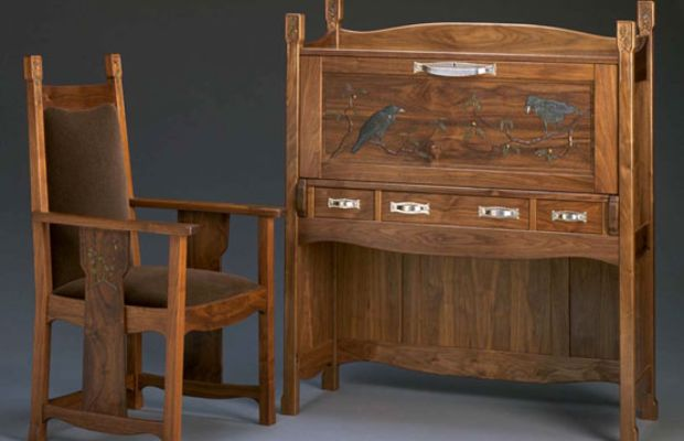 Desk and chair by Debey Zito and Terry Schmitt.