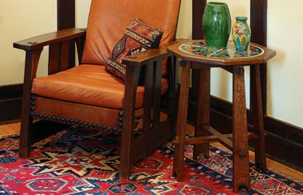 Colorful Caucasian rugs are inspired by Persian and Turkish designs.