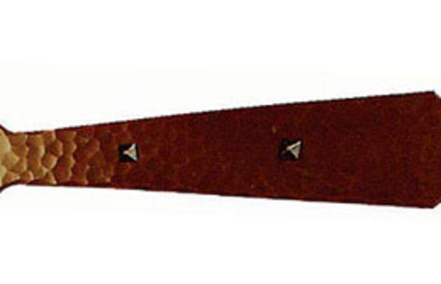 Spade-head copper strap-hinge tail 'B' from Craftsmen Hardware.