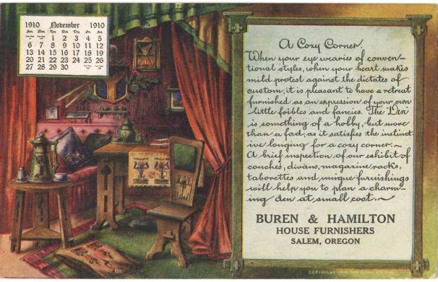 A 1910 mailer from Buren & Hamilton, Salem, Oregon.