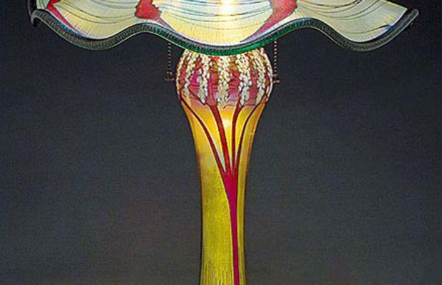 Luster or iridescent glass from Carl Radke, Phoenix Art Glass.
