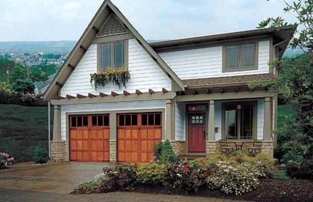 Garage doors suited to a bungalow, a Norman Revival cottage, and a Foursquare, from Clopay <a href=