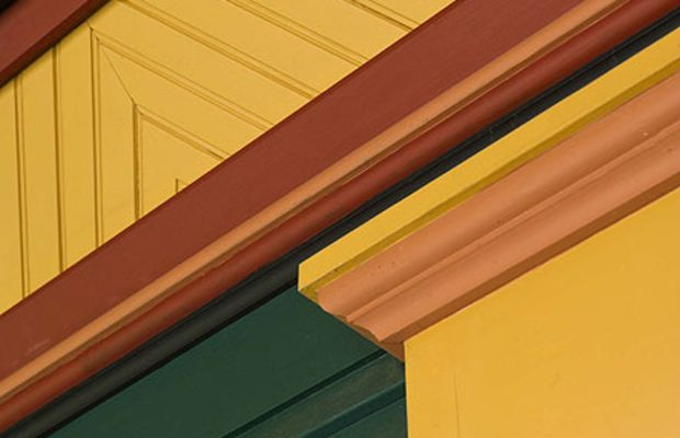 Decorative treatment with beadboard on the author's front porch ceiling.