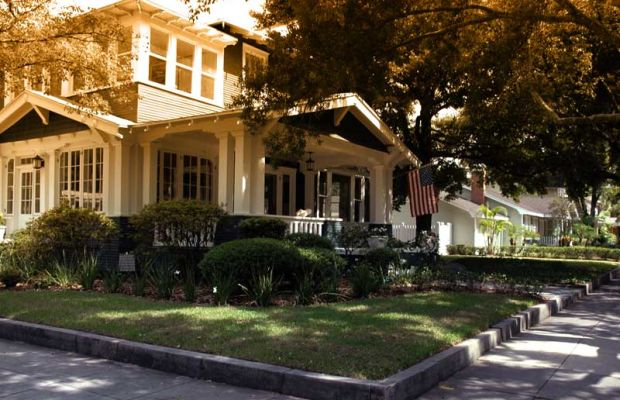 Hyde Park in Tampa is filled with period homes.