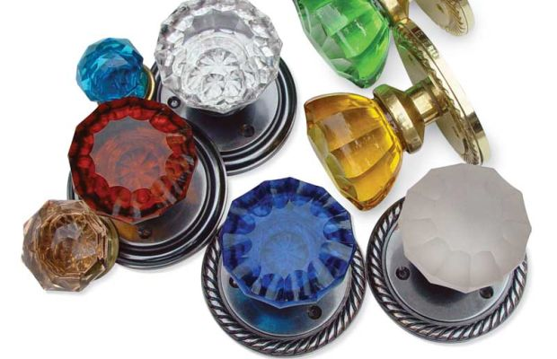Assorted glass door and cabinet knobs from Antique Hardware & Home.