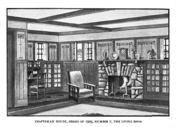 Suggestion for Bungalow interior in a Craftsman house from Stickley.