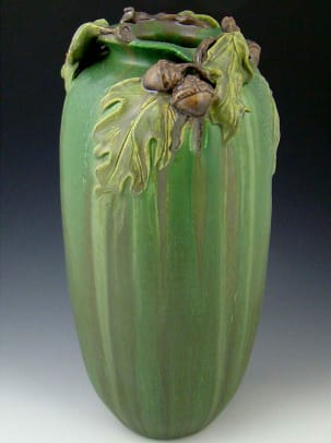 'Stalwart Oak' vase from Ephraim Faience.