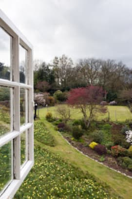 View from the second floor window of Stoneywell.