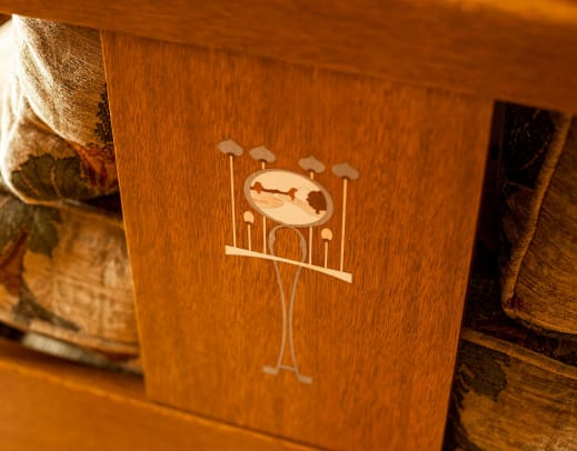 . Re-issued Stickley furniture has Harvey Ellis-designed inlays.