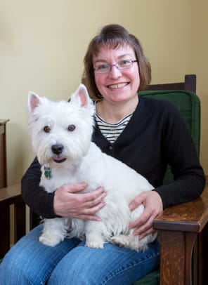 Roseann Ferrini with her Westy, Buster.