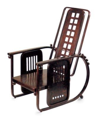 "Design extremes: Then, the machine-crafted ""Sitzmachine"" from the Wiener Werkstatte in Austria."